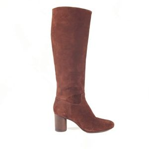 Madewell Scarlett Knee-High Suede Boots Size 7.5M